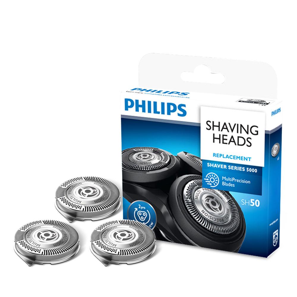 필립스 교체용 전기면도기 헤드 3p 세트, SH50/51, 혼합색상