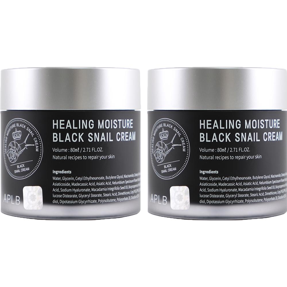 에이플비 힐링 수분 블랙 달팽이크림, 80ml, 2개