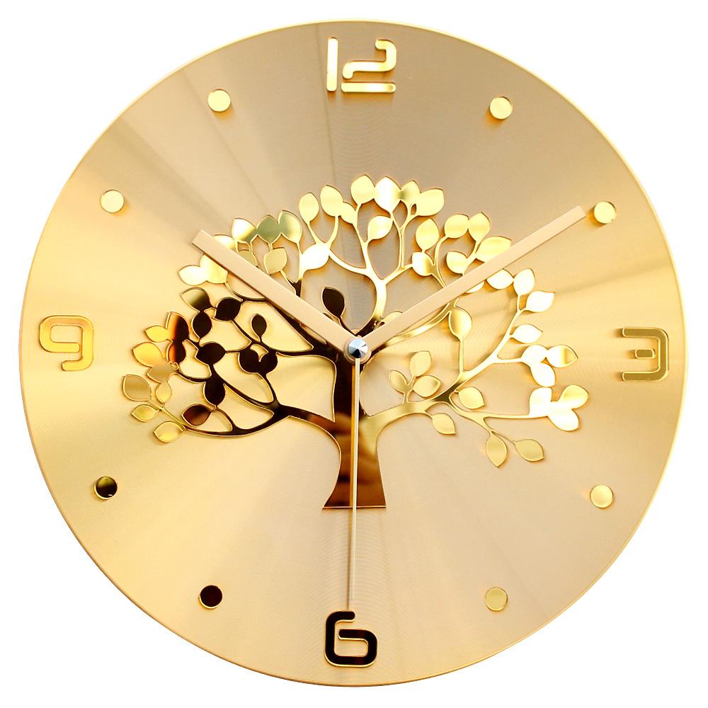 황금나무 벽시계 30cm, 골드