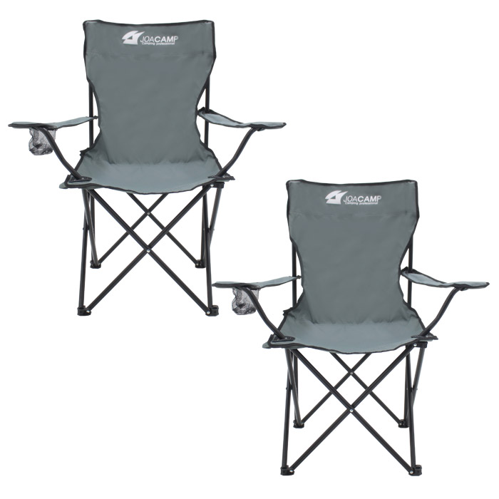 조아캠프 팔걸이 낚시 의자, 그레이, 2개