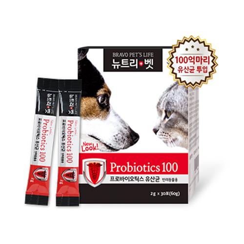 뉴트리벳 프로바이오틱스 반려동물 영양제 2g, 장 영양제, 30개