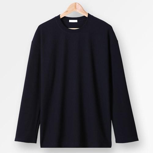 단군 남성용 링클프리 오버핏 컬러 긴소매 티셔츠