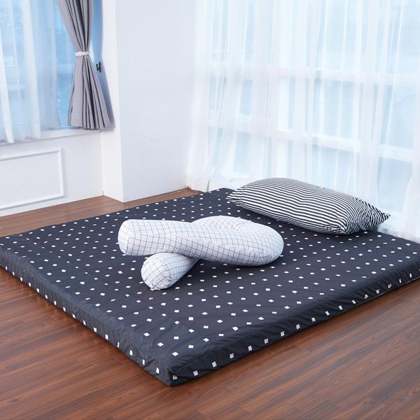 라익미 초코 매트리스 침대용 + 방수 겉커버 세트, 매트(단일색상), 커버(차콜스퀘어)