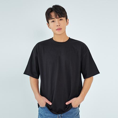 빅사이즈클럽 남성용 WAW 20수 오버핏 반팔 티셔츠