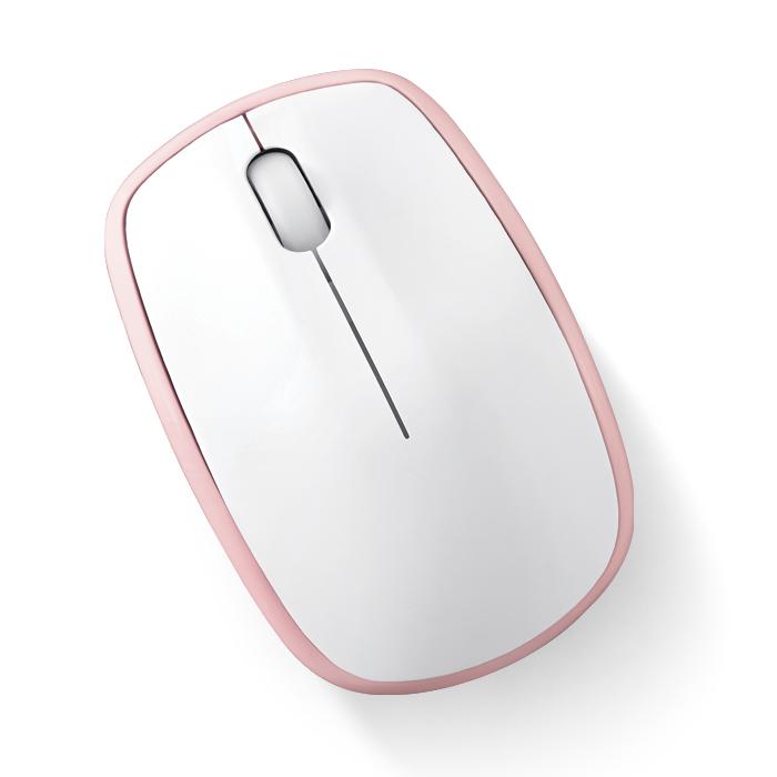 엑토 비쥬 저소음 무선마우스 MSC-195, 핑크