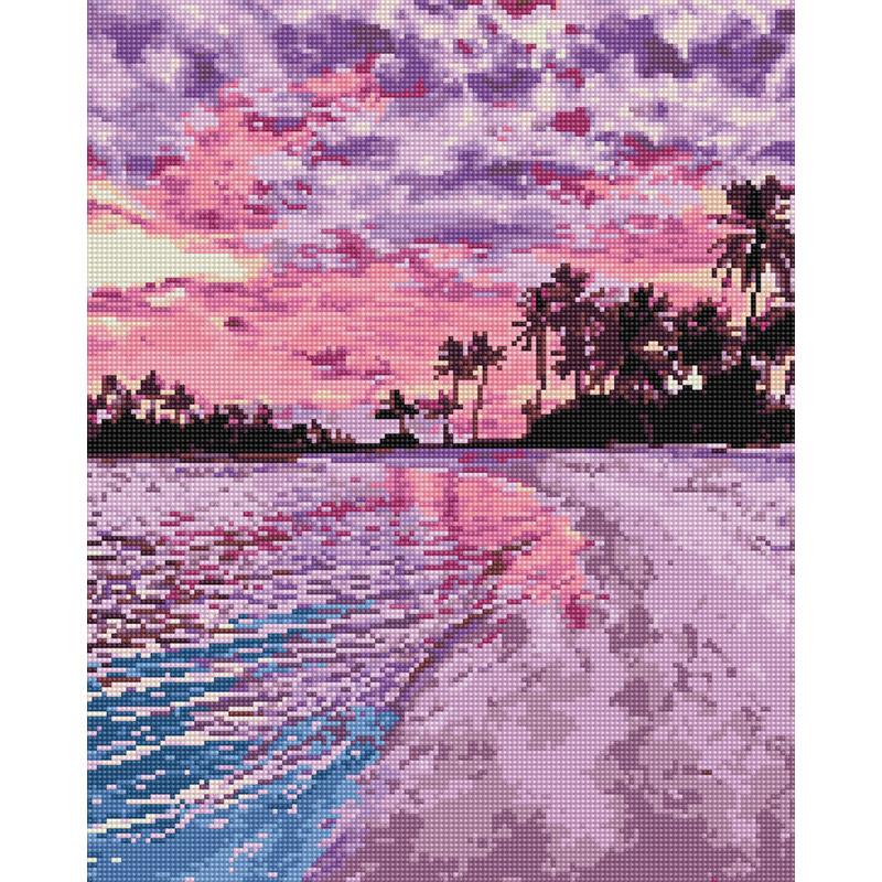 아트조이 DIY 보석 십자수 캔버스형 50 x 40 cm, 아름다운 해변, 1개