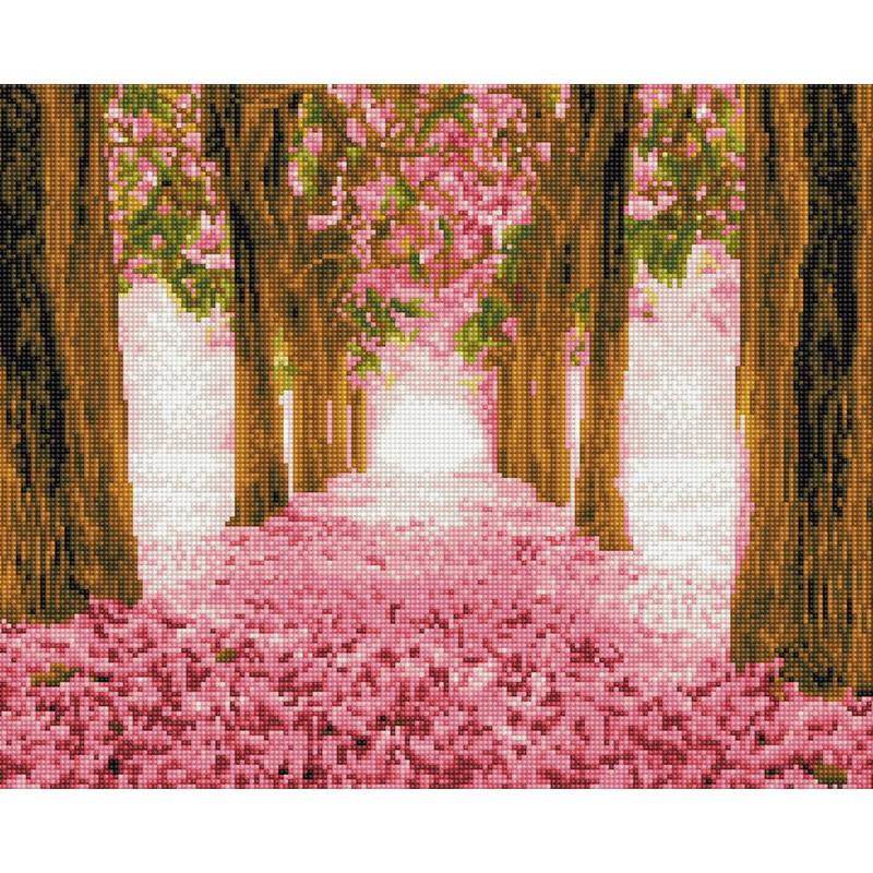 아트조이 DIY 보석 십자수 캔버스형 50 x 40 cm, 꽃길, 1개