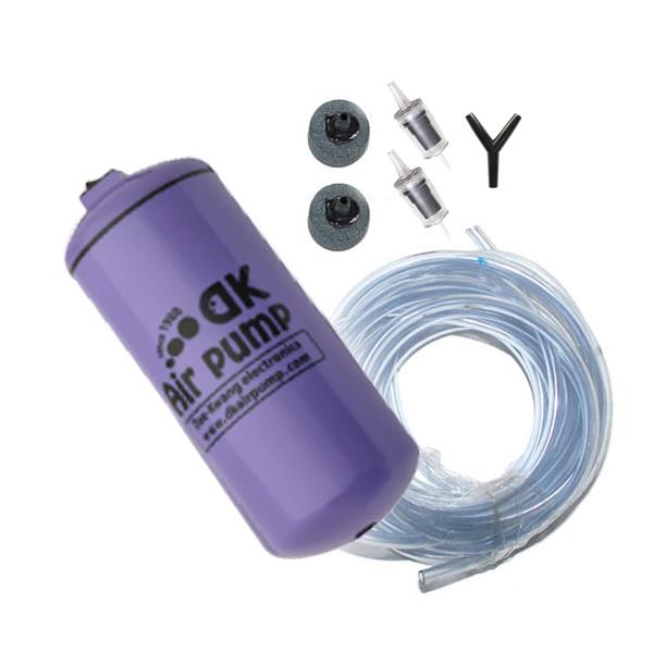 대광 무소음 2구 기포 발생기 DK-9000 + 호스 세트, 1세트