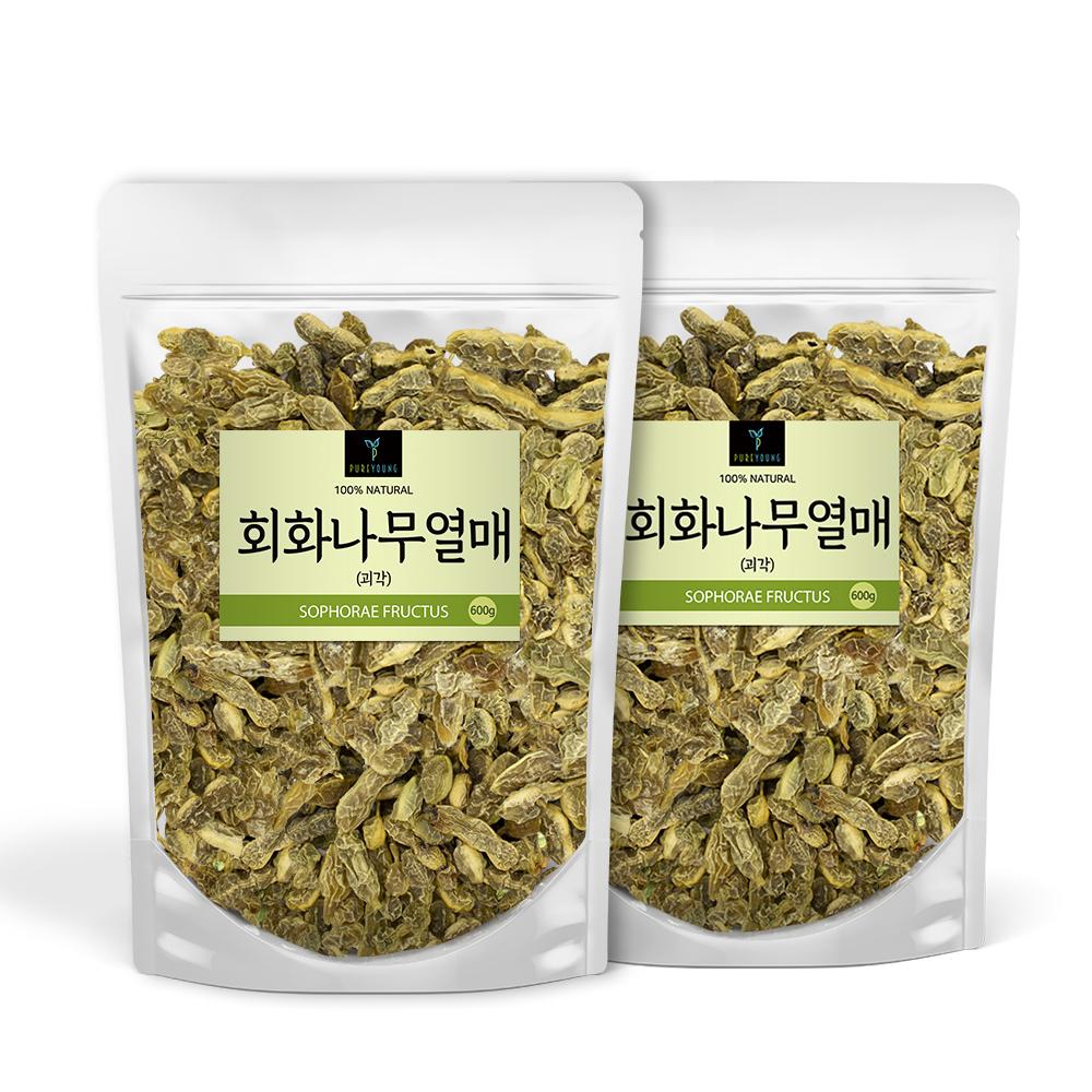 퓨어영 회화나무열매 괴각 차, 600g, 2개