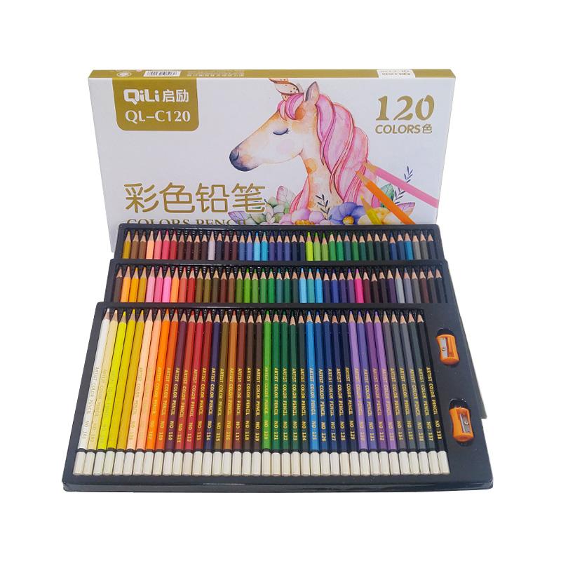디자인 컬러링 유성 색연필 세트, 120색