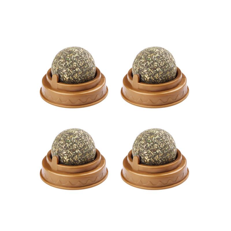 세븐펫 고양이 캣닢 마따따비 골골볼, 캣닢 + 마따따비 혼합맛, 4개