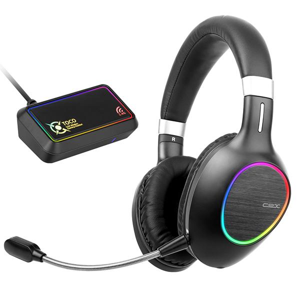 콕스 TOCO 7.1 초경량 RGB 노이즈 캔슬링 게이밍 블루투스 헤드셋, 혼합색상, 단일상품