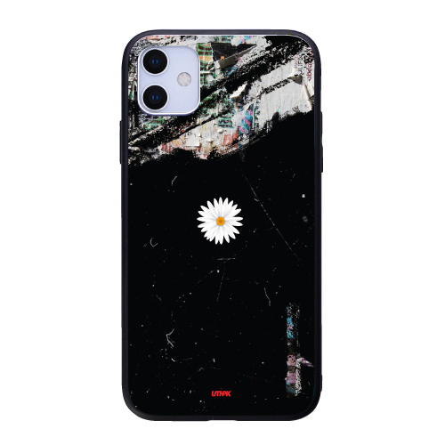 유스픽 피스 플라워 리얼 글라스 휴대폰 케이스-14-1314015687