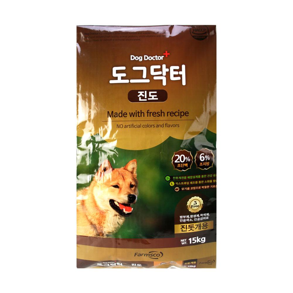 팜스코 1년 이상 도그닥터진도 강아지 사료, 곡물, 15kg