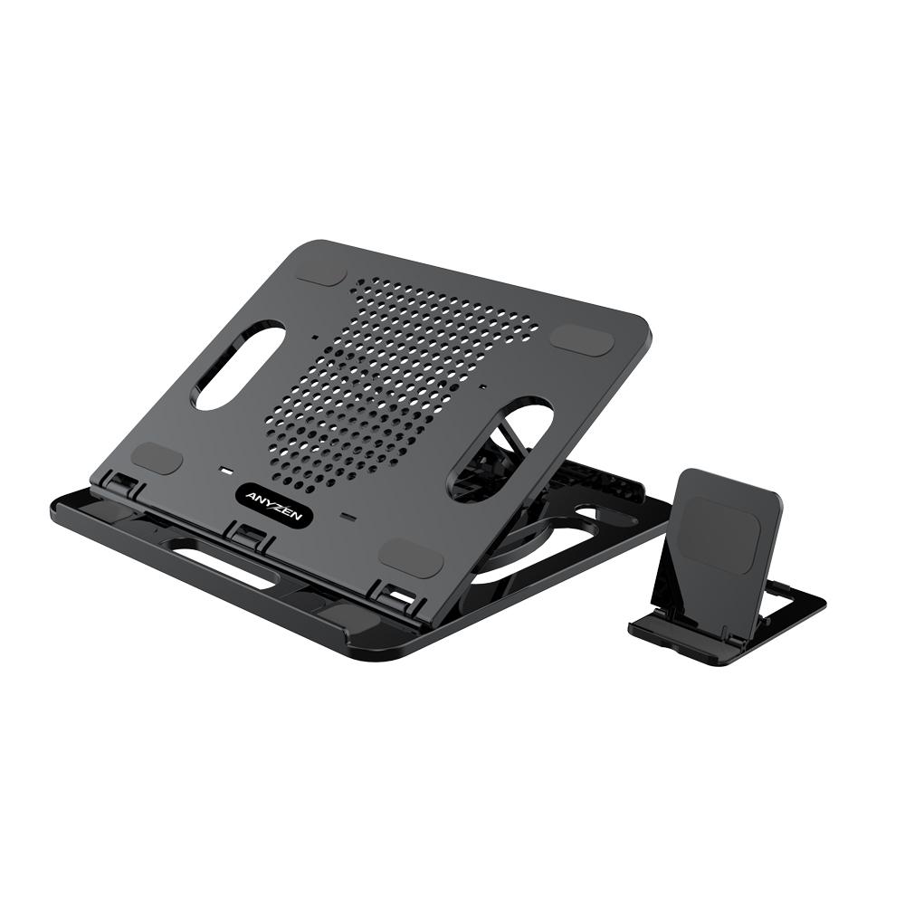 애니젠 휴대용 노트북 거치대 APC-A2000 + 미니거치대, 블랙