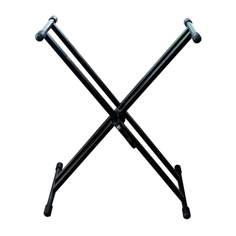 캐슬 BK 듀얼 X 키보드 스탠드 CKS-003C, 블랙, 1개