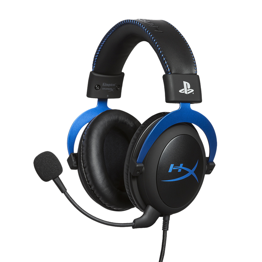 하이퍼엑스 Cloud Blue PS4 게이밍 헤드셋, HX-HSCLS-BL/AS, 블루