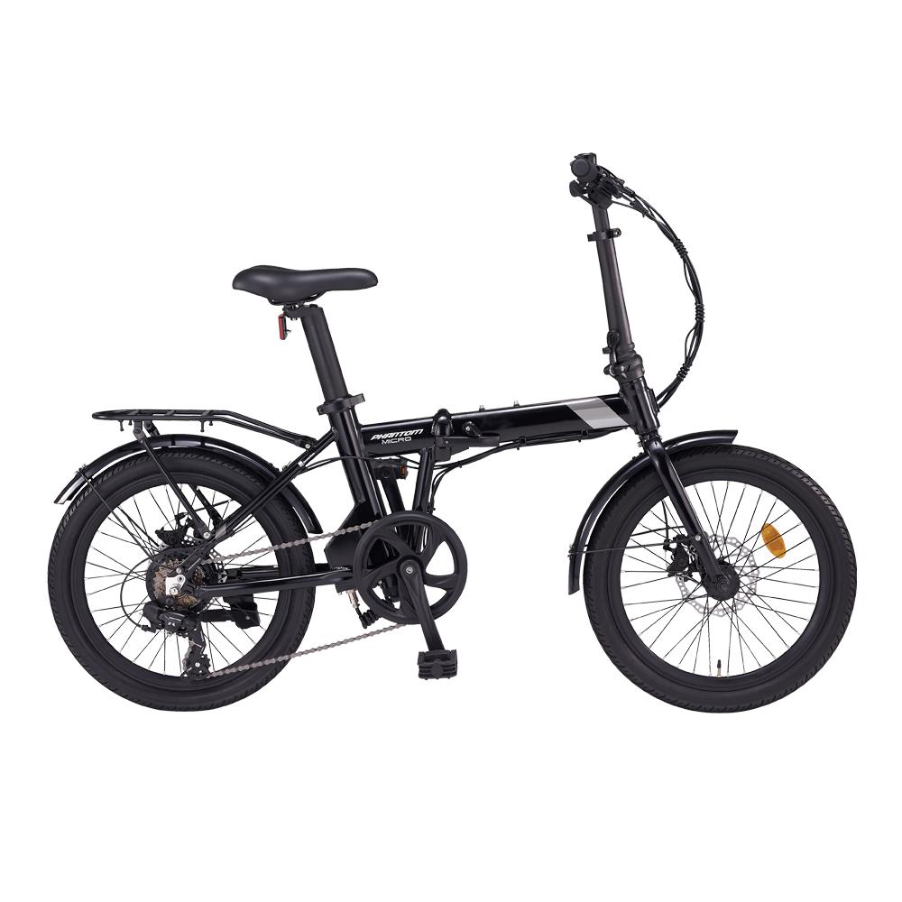 삼천리자전거 팬텀마이크로 7단 전기자전거, 블랙