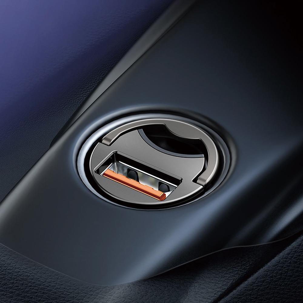 무아스 초미니 시거잭 차량용 고속충전기, MQC3, 혼합색상