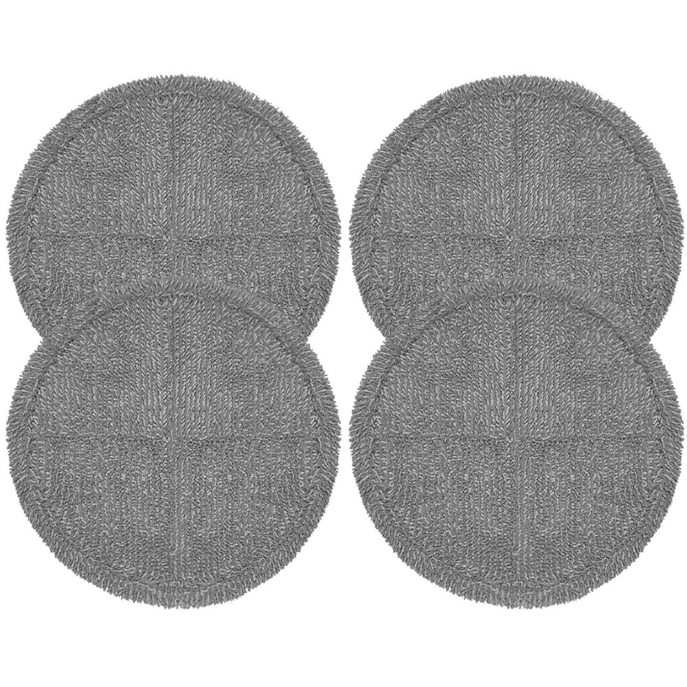 물걸레청소기 전기종 호환 극세사 걸레 회색 22cm, 단일상품, 4개