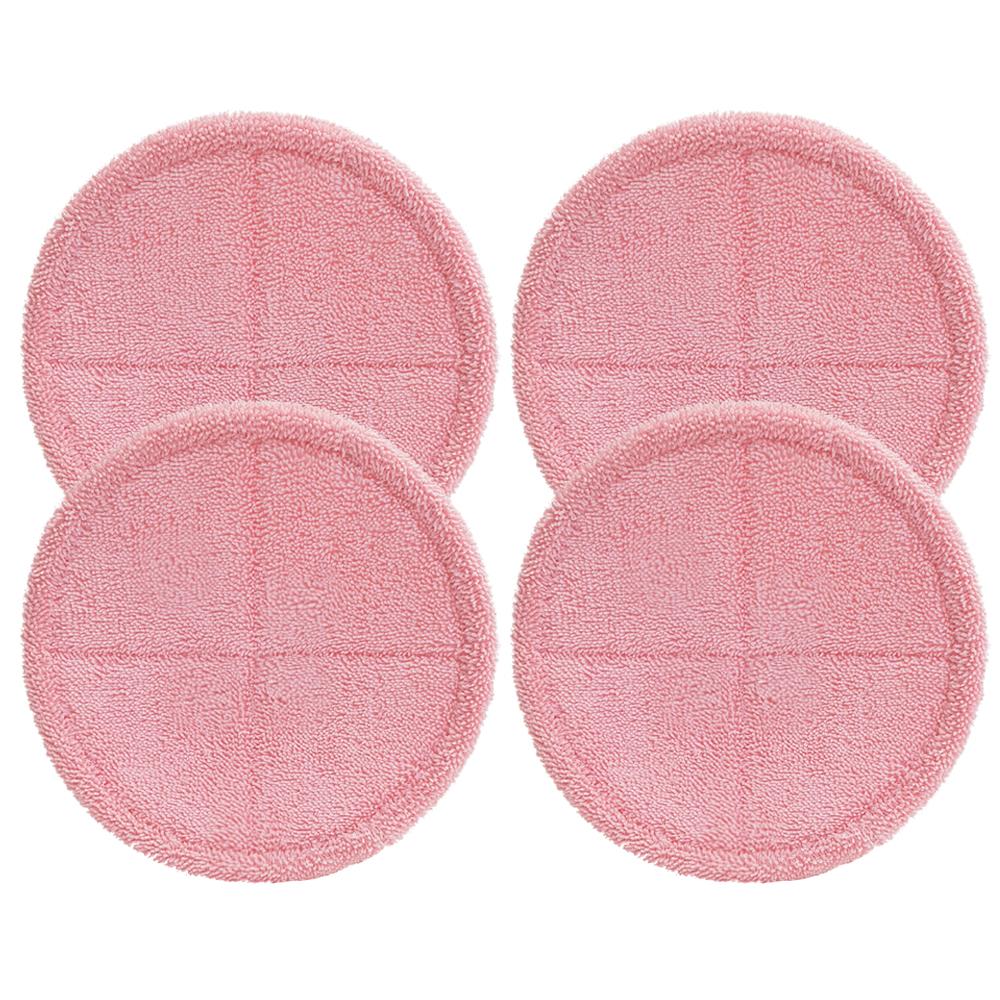 물걸레청소기 전기종 호환 극세사 걸레 분홍핵 22cm, 단일상품, 4개