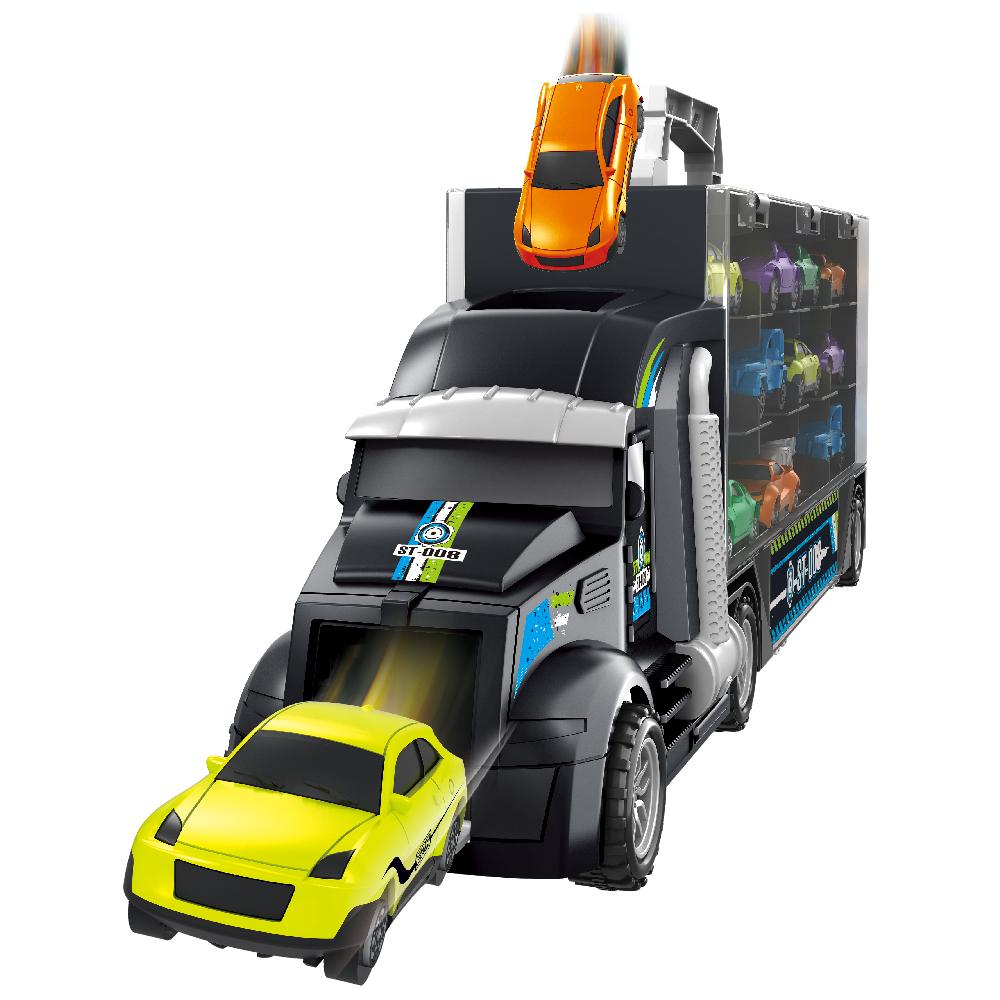 미니카 트럭 캐리어 자동차 장난감 세트, 혼합색상