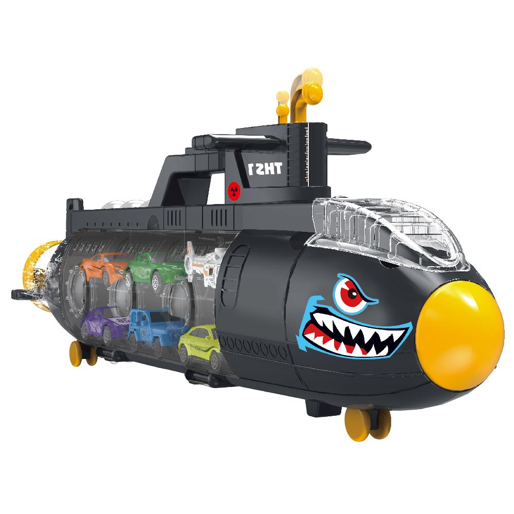 미니카 잠수함 캐리어 자동차 장난감 세트, 혼합색상