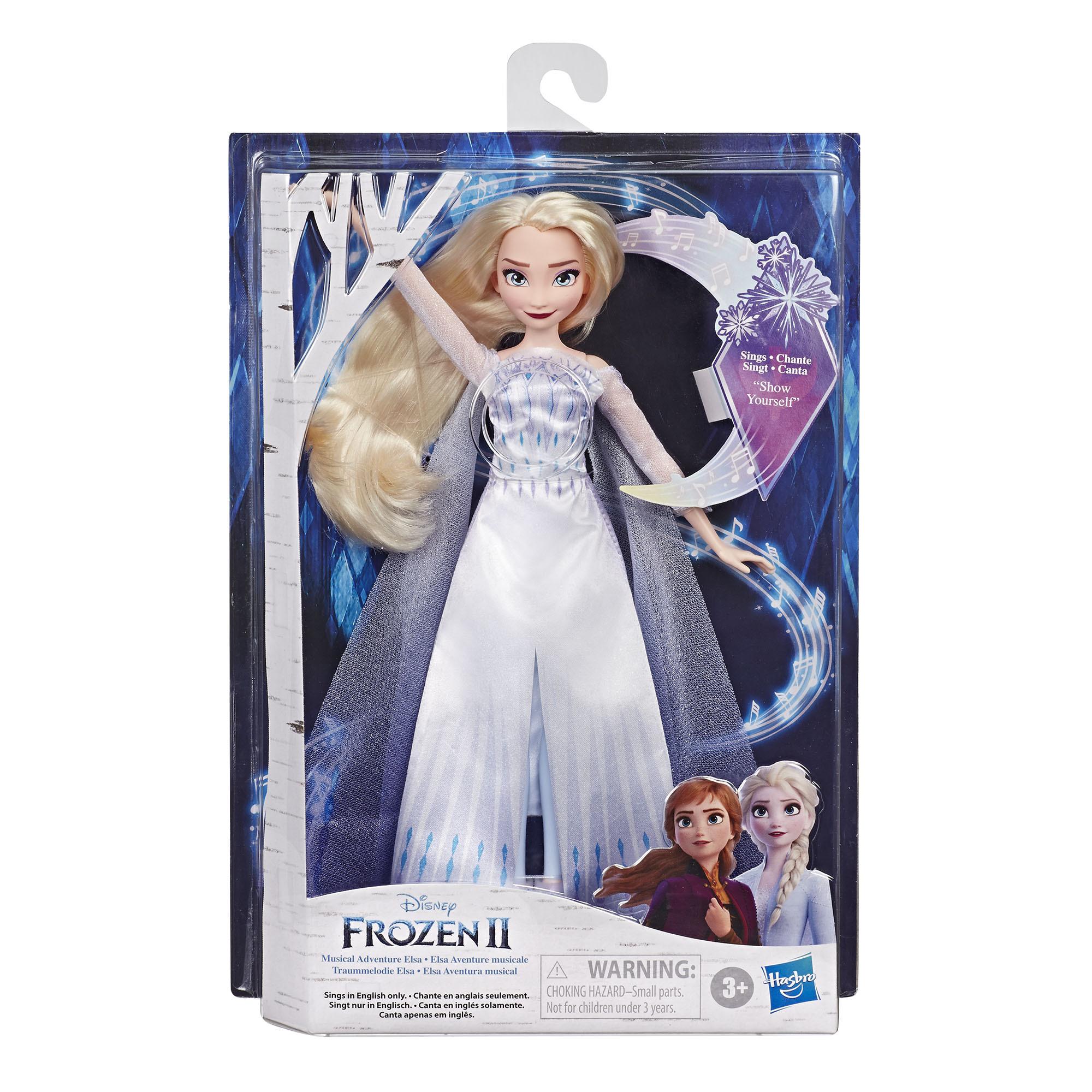 겨울왕국 2 패션돌 노래하는 퀸 엘사 구체관절인형, 27.5cm, 혼합색상