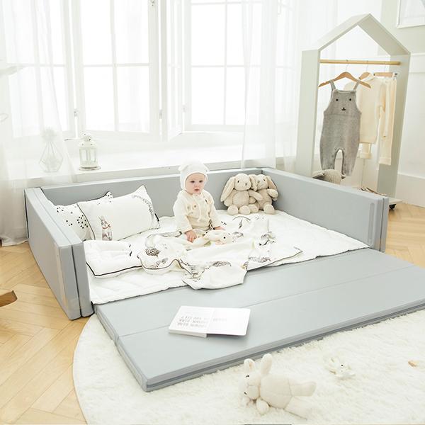 도노도노 베이직 멀티 유아 범퍼 침대, 라이트그레이