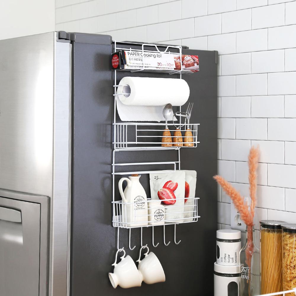 코시나 폴딩 냉장고 사이드 틈새선반