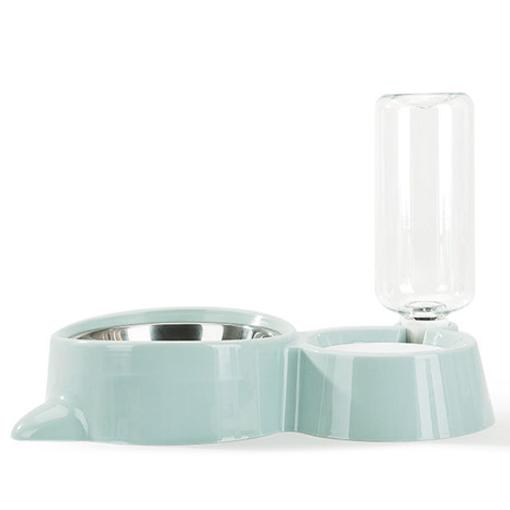 반려동물 밥 물 그릇, 블루, 1개