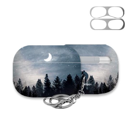 트라이코지 시즌1 에어팟 프로 하드케이스 + 철가루 방지스티커, 단일상품, 08 밤하늘달 001