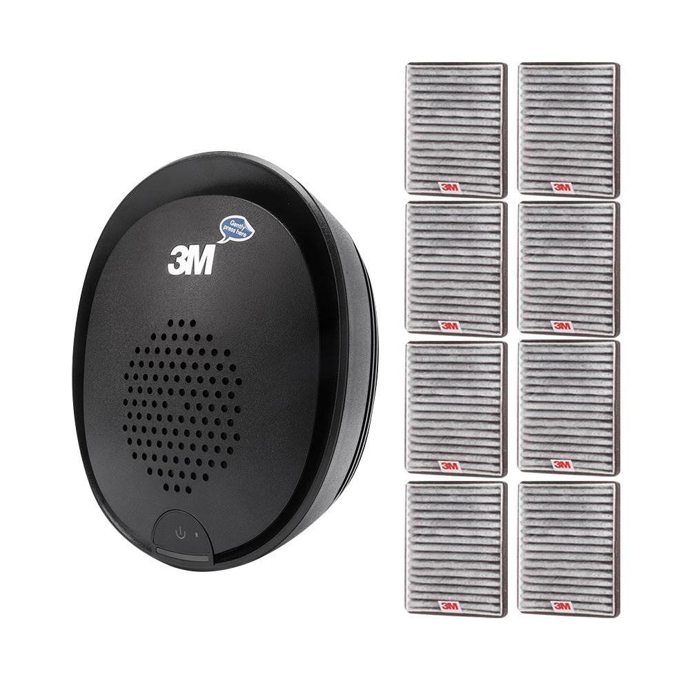 쓰리엠 차량용 공기청정기 플러스 블랙 + 교체 필터 8p, 공기청정기(PN38816), 필터(PN38716)