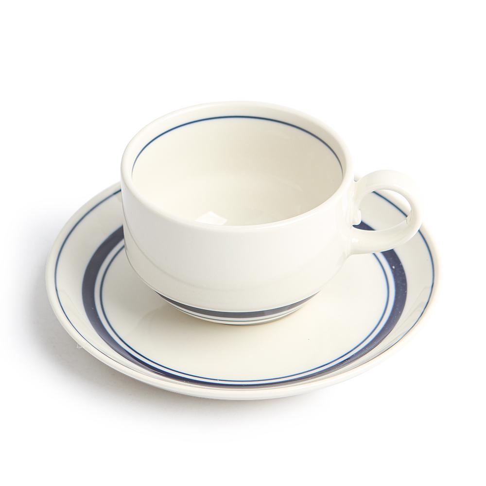 카네수즈 스노우톤 스택 커피잔세트 210ml, 블루, 1세트