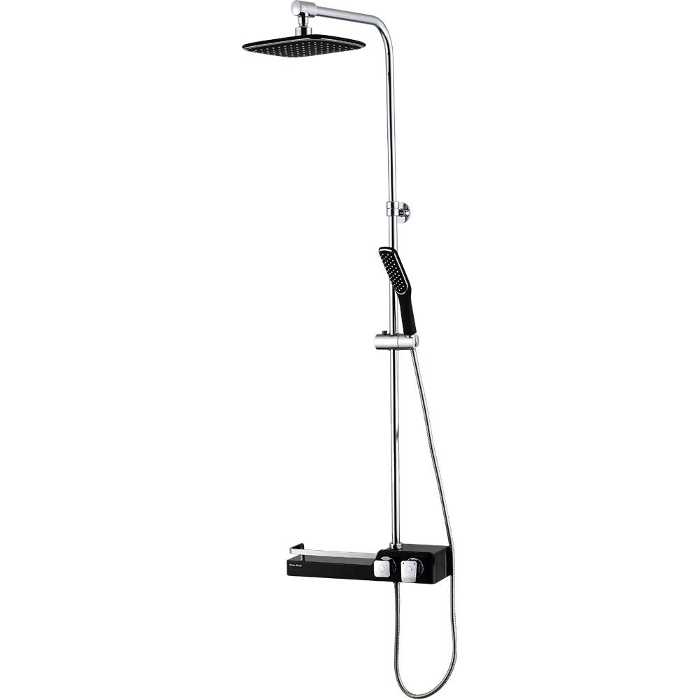 두진바스 선반형 욕실 해바라기 레인 샤워기 수전 DB300N 블랙, 1개