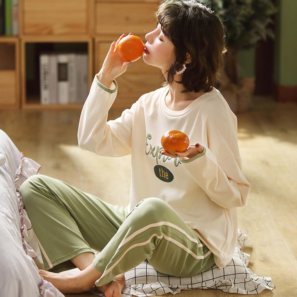글램공감 여성용 그린티 투피스 잠옷