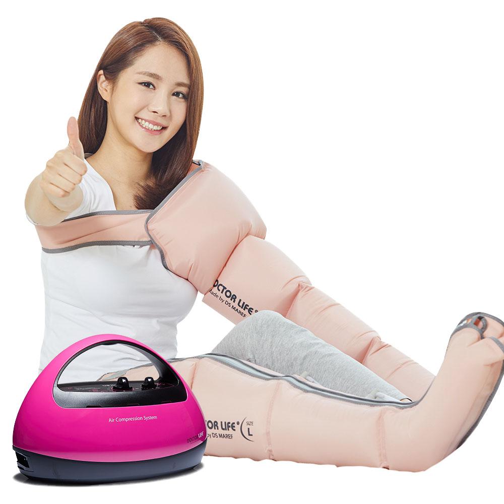 닥터라이프 에이스 공기압 마사지기 본체 + 다리 커프 + 팔 커프 + 보관용 백 세트 핑크, ACE