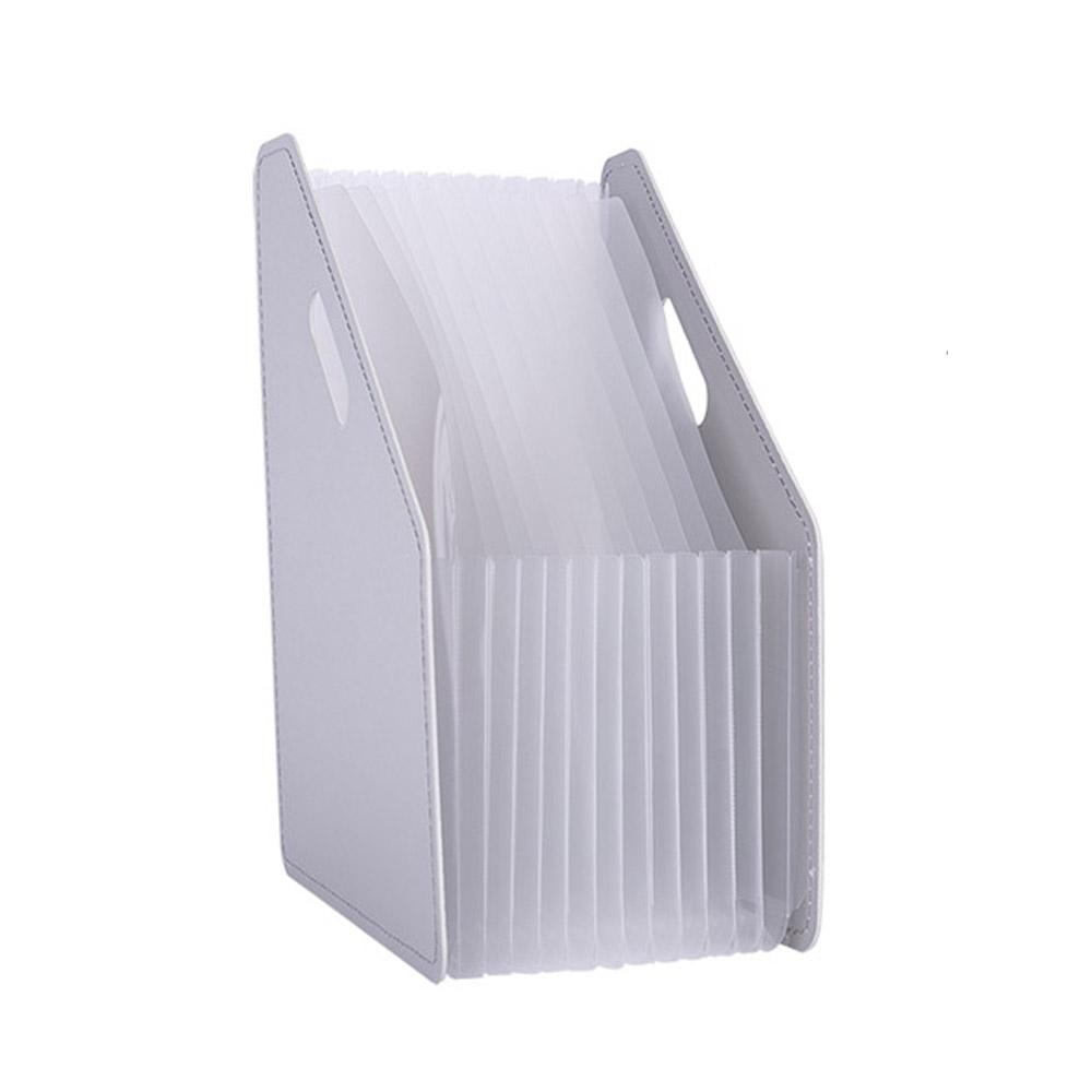델리 아코디언 파일홀더 박스 63952, 화이트, 1개