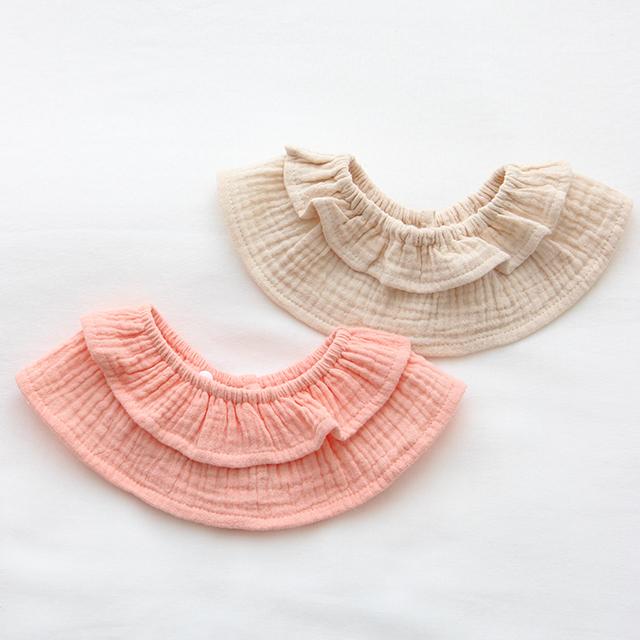 아기 턱받이 2종세트, 핑크, 오트밀, 1세트