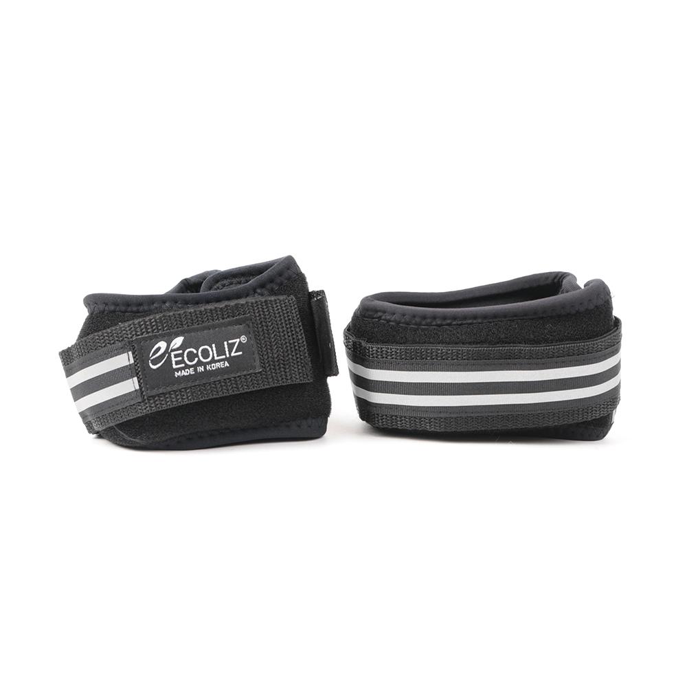 에코리즈 발목 중량 밴드 무게 고정형, 블랙, 2kg