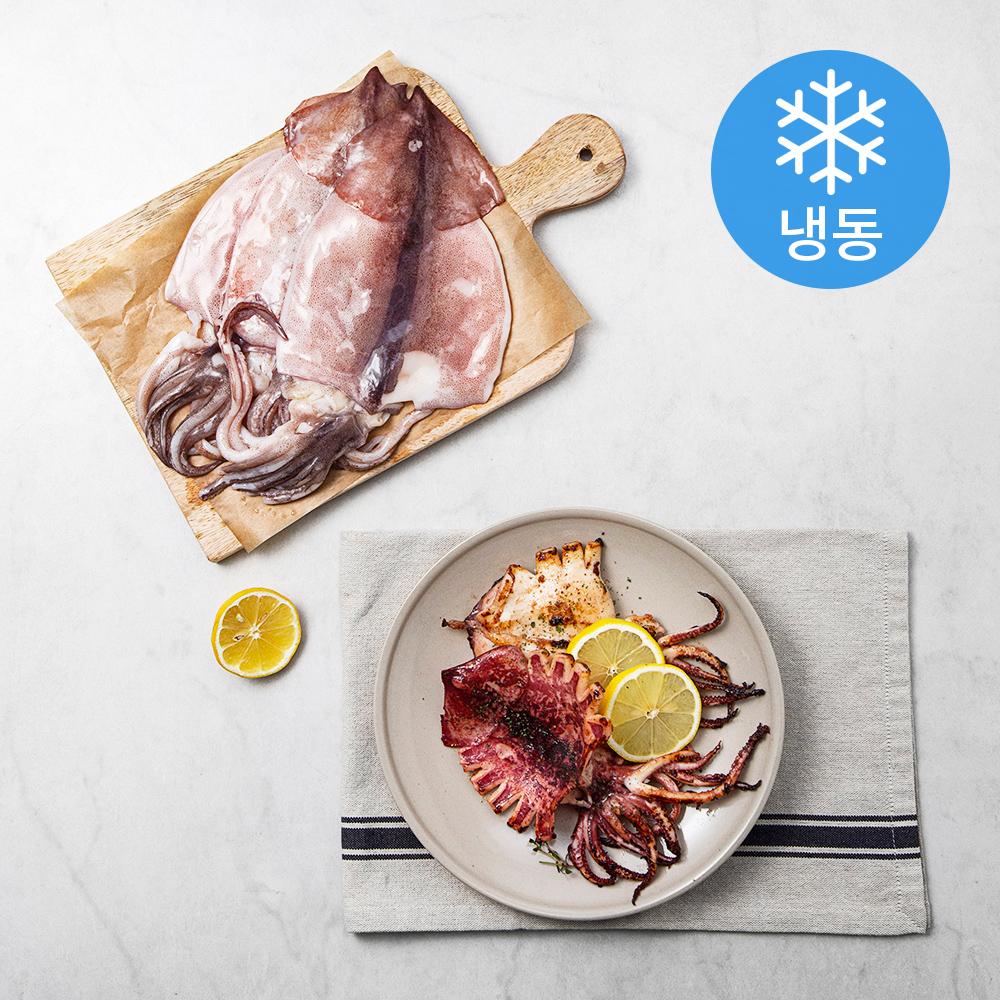 손질 오징어 국산비축품 (냉동), 800g, 1개