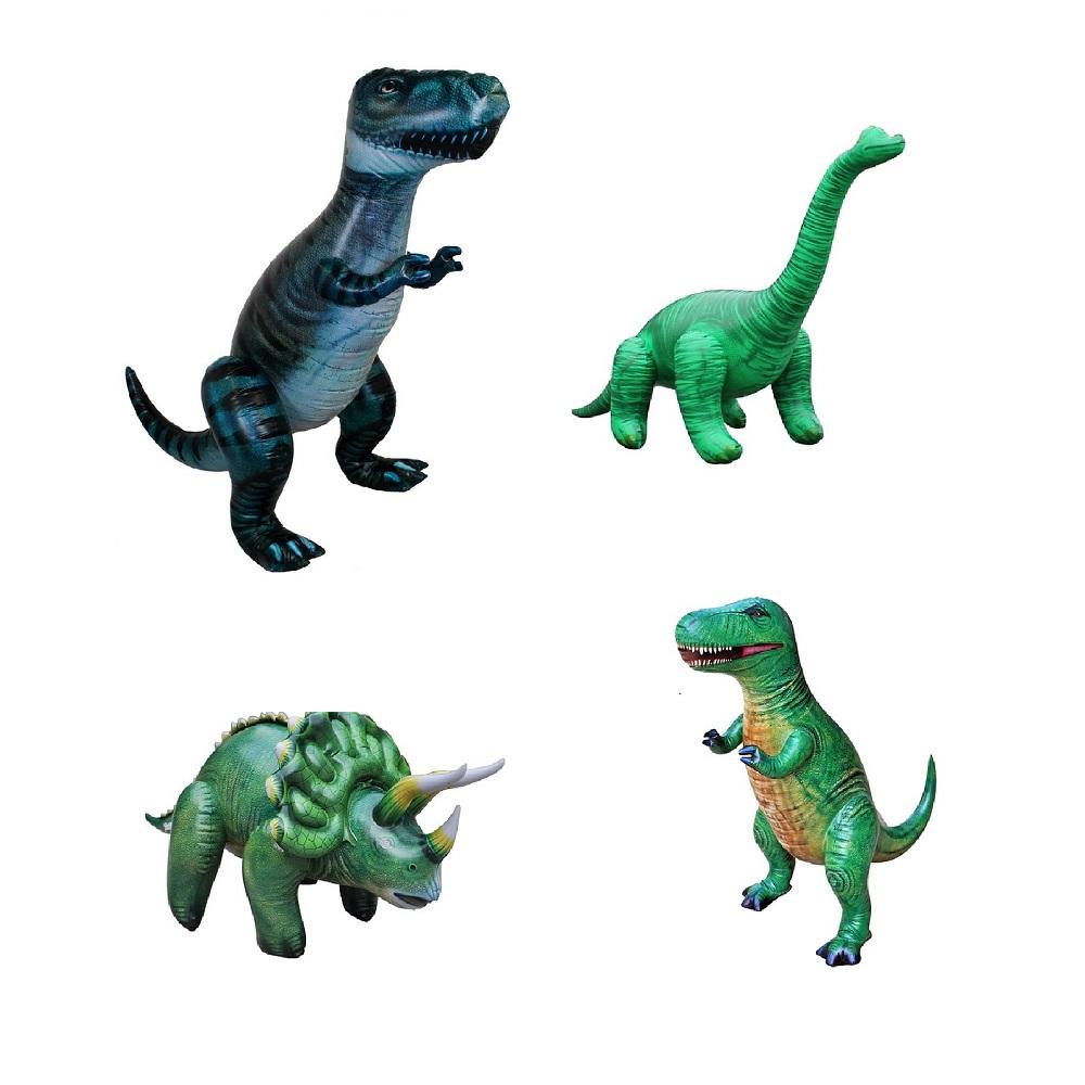 공룡기 대형 튜브 공룡풍선 4종 세트, 자이언트티라노, T-Rex, 트리케라, 브라키오, 1세트