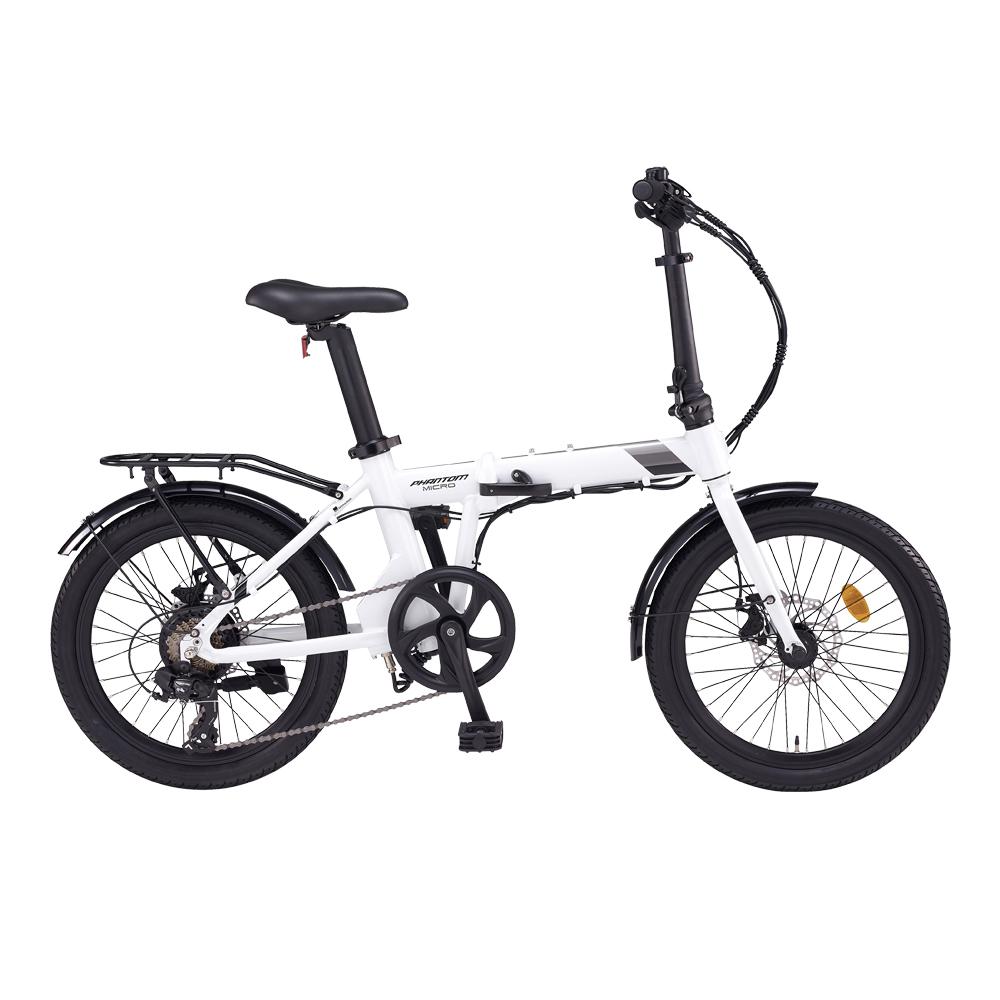 삼천리자전거 팬텀마이크로 7단 전기자전거 2020, 화이트