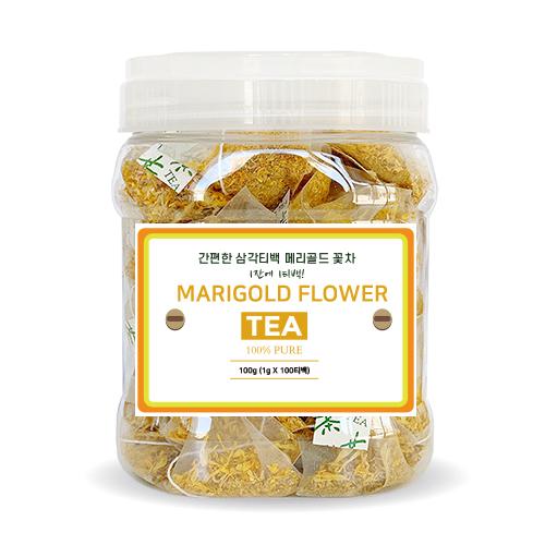 메리골드 꽃차 삼각티백, 1g, 100개