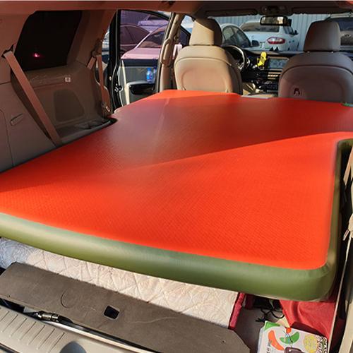 에어포스 올 뉴 카니발 차량용 에어매트 전체형, 레드 + 올리브그린
