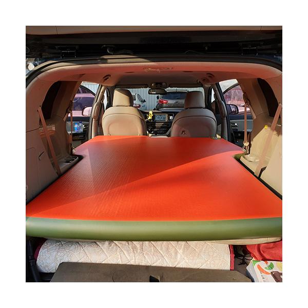 에어포스 올 뉴 카니발 차량용 에어매트 일자형, 레드 + 올리브그린