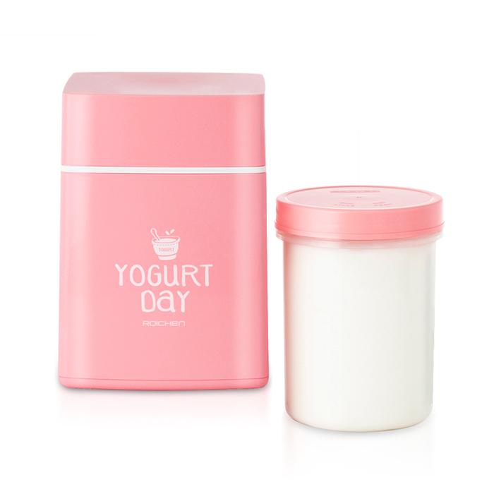 로이첸 요거트메이커 + 발효용기, 핑크, 1세트