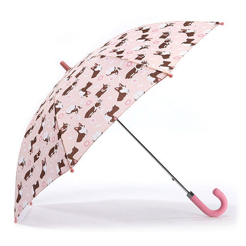 헤즈 아동용 웰시코기 핑크 우산