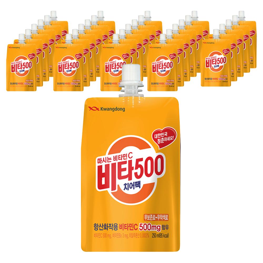 광동제약 비타500 치어팩, 250ml, 30개