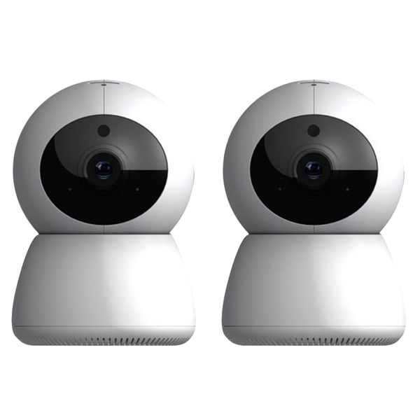 싸드 FULL HD 가정용 홈CCTV IP네트워크 회전형 카메라 미캠 2p, PD204